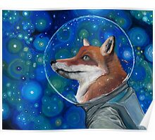 Wonderment of a Space Fox Poster