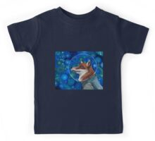 Wonderment of a Space Fox Kids Tee
