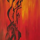 Branches of Fire 1 by Beckyswann