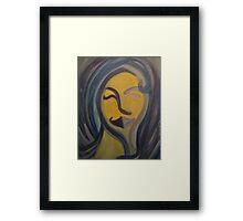 Blue Girl Framed Print