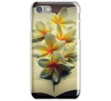 Frangipanis On A Book iPhone Case/Skin