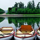 Boat Trio in the Palace of Versailles Gardens by Laura Sanders
