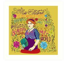 Malorie the Half Woman of France Art Print
