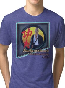 Kung Fu vintage 'aged' version Tri-blend T-Shirt