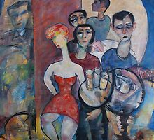 """SOCIALLY  ACCEPTED"" oil on canvas  by Pierre Huot"
