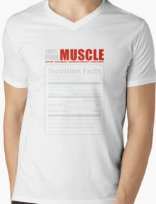 PURE MUSCLE, BABY! Mens V-Neck T-Shirt