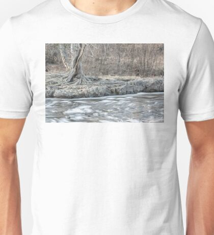 Twisted Tree Along the River Bend Unisex T-Shirt