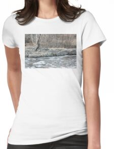 Twisted Tree Along the River Bend Womens Fitted T-Shirt