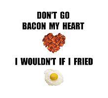 Bacon My Heart Photographic Print