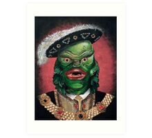 Renaissance Creature From The Black Lagoon Art Print