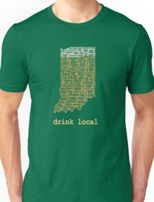 Drink Local - Indiana Beer Shirt Unisex T-Shirt