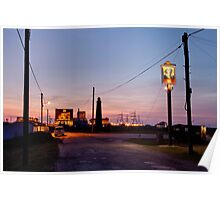 Cross-over light, Dungeness with pub Poster