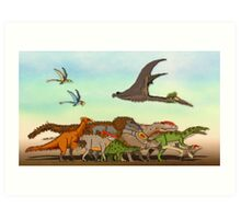 Mesozoic Procession Art Print