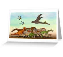 Mesozoic Procession Greeting Card