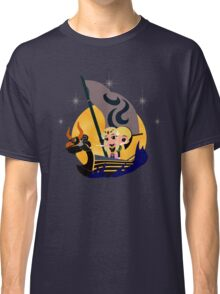 Link and Zelda at Sea - Night Classic T-Shirt