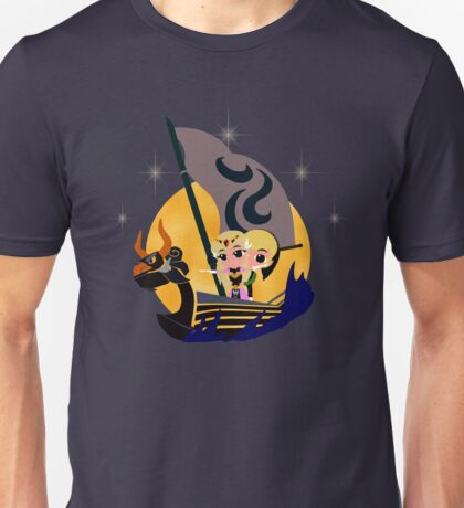 Link and Zelda at Sea - Night Unisex T-Shirt