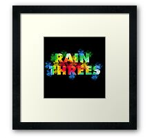 Rain Threes  Framed Print