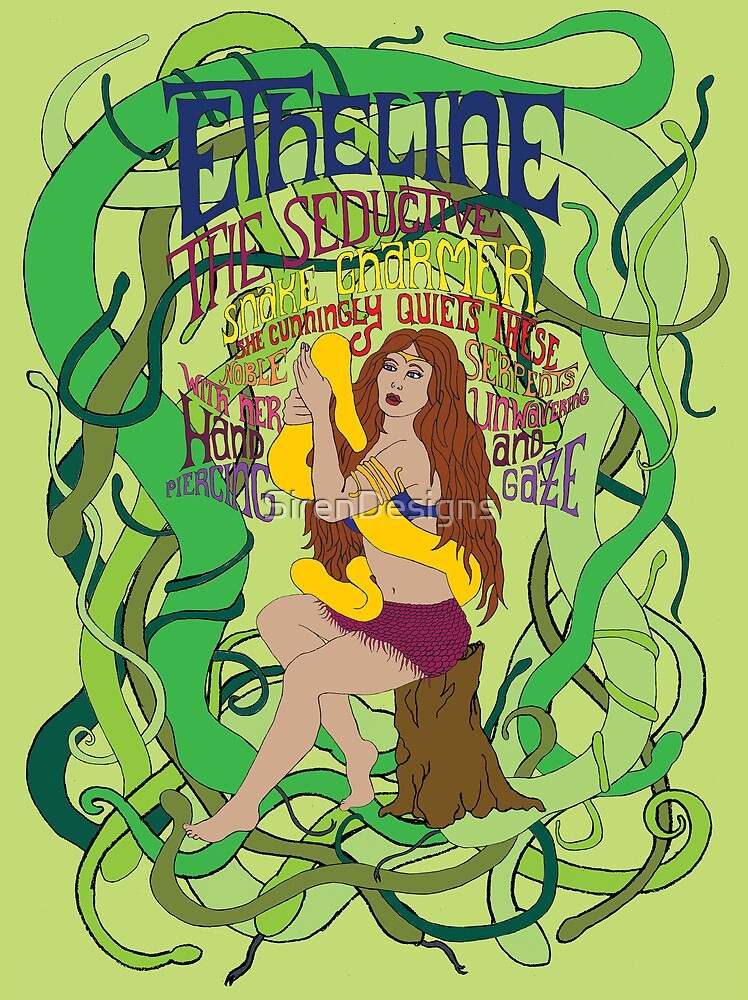 Etheline the seductive snake charmer by SirenDesigns