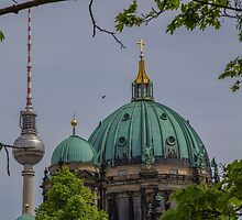 Germany. Berlin. Cathedral Domes and TV Tower. by vadim19