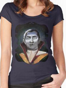 Renaissance Victorian Portrait - Dracula Women's Fitted Scoop T-Shirt