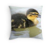 Mallard chick Throw Pillow