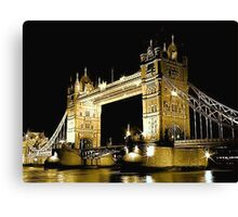 TOWER BRIDGE LONDON / GOLD Canvas Print