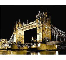 TOWER BRIDGE LONDON / GOLD Photographic Print