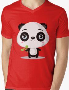 Pandas like bamboo sticks Mens V-Neck T-Shirt