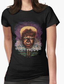 Renaissance Victorian Portrait - Wolfman Womens Fitted T-Shirt
