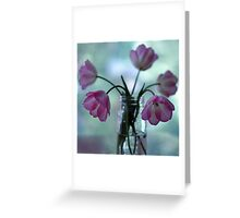 Tulips in the kitchen iii Greeting Card
