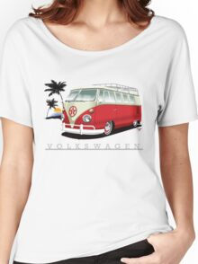Red & White 11 Window Women's Relaxed Fit T-Shirt