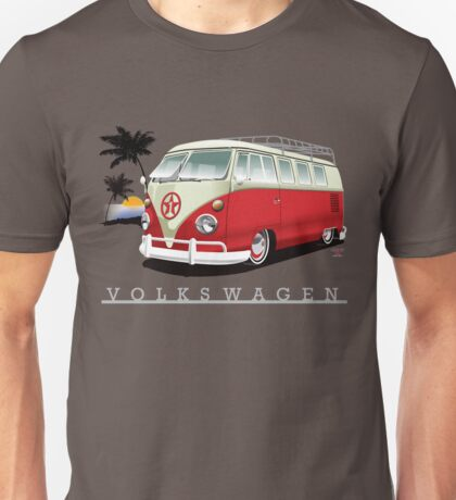 Red & White 11 Window Unisex T-Shirt