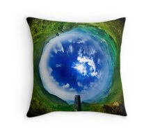 View Over Skipton - Wormhole Throw Pillow