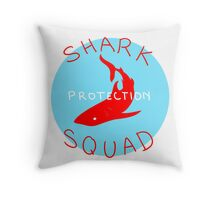 SHARK PROTECTION SQUAD Throw Pillow