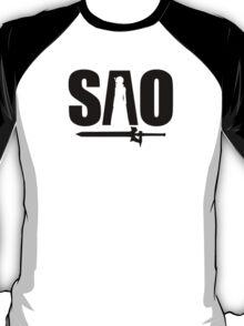 S-A-O w/ Sword - Sword Art Online T-Shirt