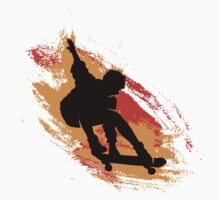 Skater - Skate Paint Brushes Distressed Design Kids Clothes