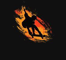 Skater - Skate Paint Brushes Distressed Design Unisex T-Shirt