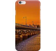 Sunset over Harvard Bridge iPhone Case/Skin