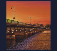 Sunset over Harvard Bridge Kids Tee