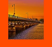 Sunset over Harvard Bridge Unisex T-Shirt