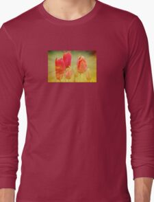 Sunburst Tulips Long Sleeve T-Shirt