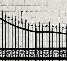 Wrought Iron Fence  by Ethna Gillespie