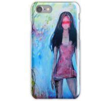 Girl In Rose Colored Dress iPhone Case/Skin