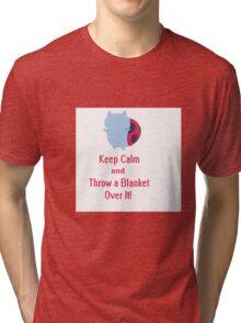 Keep calm cat-bug Tri-blend T-Shirt