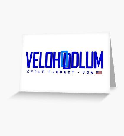 Velo Hoodlum - Blue Link USA Greeting Card