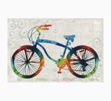 Colorful Bike Art - Free Spirit - By Sharon Cummings One Piece - Long Sleeve