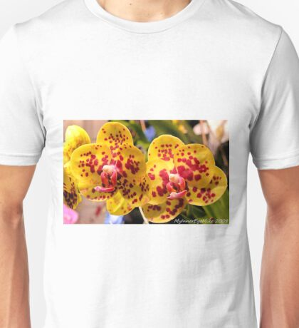 #296          Yellow & Red Spotted Orchid Unisex T-Shirt