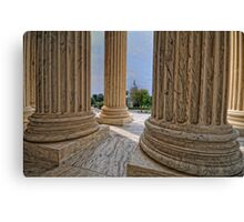 Supreme Court View of the US Capitol Canvas Print