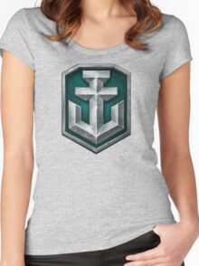 World of Warships Logo Women's Fitted Scoop T-Shirt