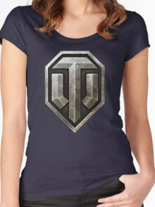 World of Tanks Logo Women's Fitted Scoop T-Shirt